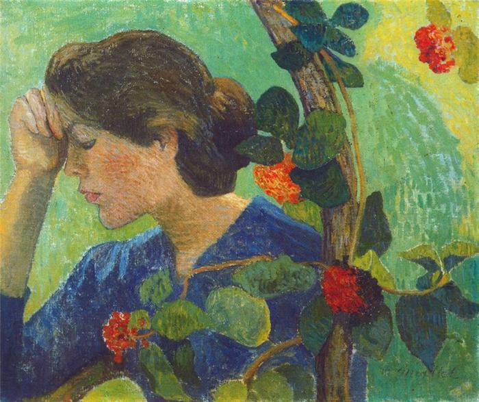 """Maillol, """"Jeune fille au feuillage"""", 1893"""